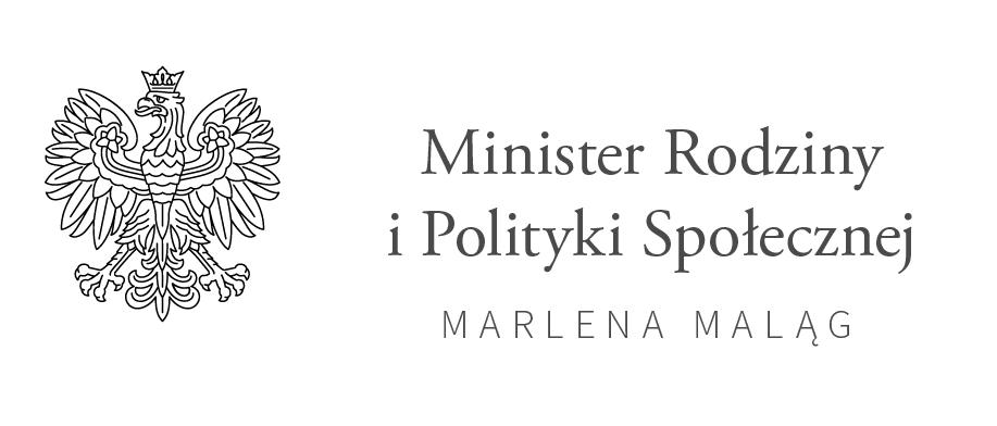 Logo Minister Rodziny i Polityki Społecznej Marlena Maląg